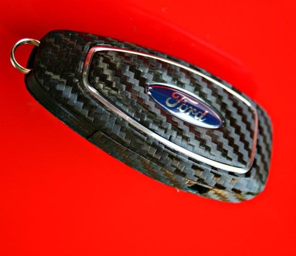 #12 Schlüsselfolie in Carbonoptik für Ford Modelle Key Free