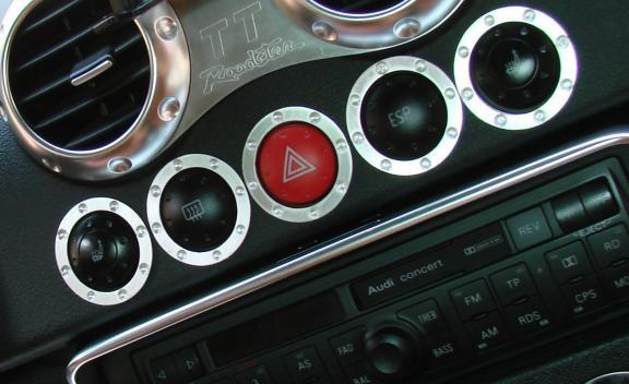 1 Set Aluminium Dekorringe für die Schalterleiste im TT Design