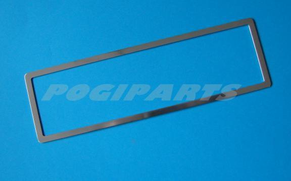 1 Aluminium Zierrahmen für die mittige Lüfterdüse