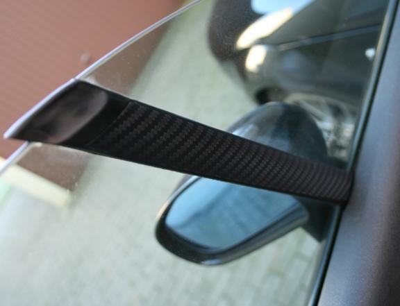 1 Set Foliendekor in Carbonoptik für die Fensterstreben