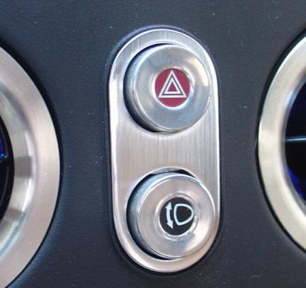 1 Aluminium Dekorblende für den Warnblinkschalter