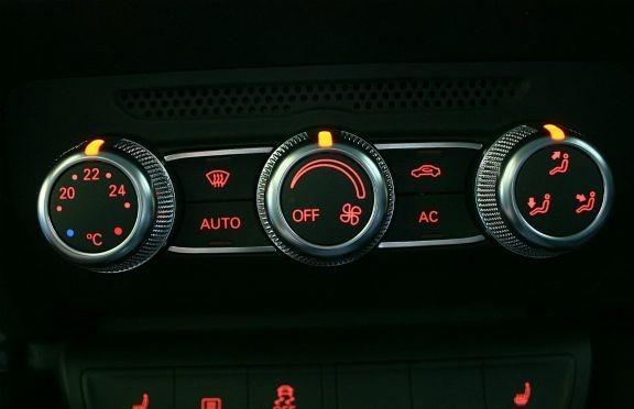 1 Set Aluminium Dekorleisten für die Klimaautomatik