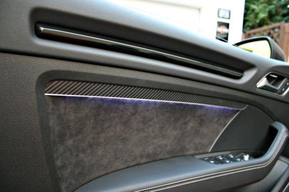 2 Aluminium Türzierstäbe V2 mit Ambiente Beleuchtung rot oder we