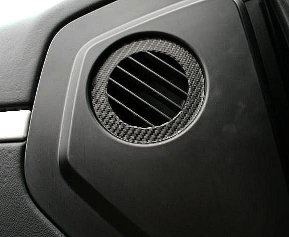 1 Set Foliendekor in Carbonoptik für die Luftdurchführung in der Türe