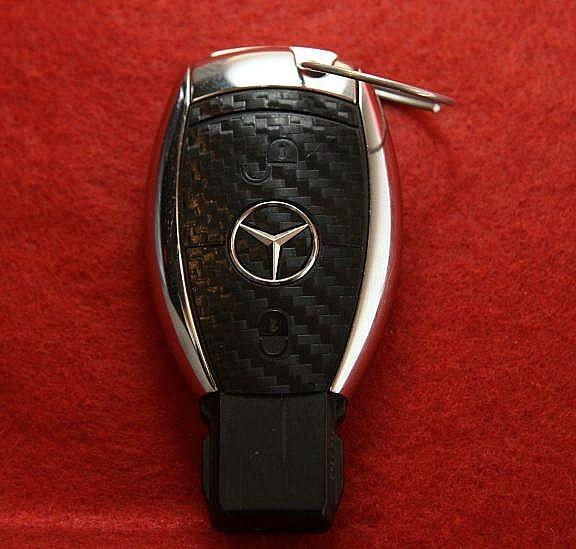 #7 Schlüsselfolie in Carbonoptik Mercedes Benz 2 Button