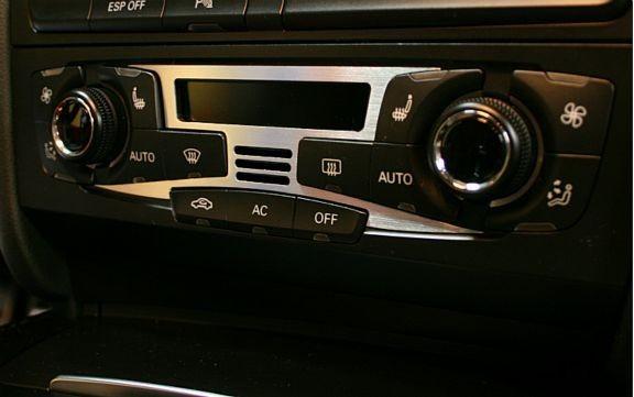 1 Aluminium Dekorblende für die Klimaanlage (nicht für das Facelift)
